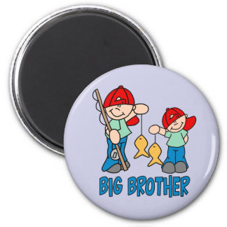 Fishing Buddies Big Brother 6 Cm Round Magnet