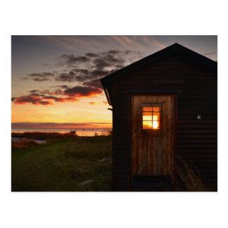 Fishing hut postcards
