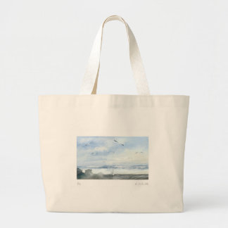 * fishing in the coast * large tote bag