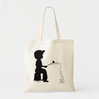 Fishing in the Evening Budget Tote Bag