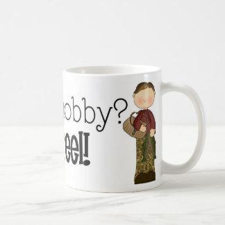 Fishing Is a Hobby? Get Reel! Fishing Humor Coffee Mug