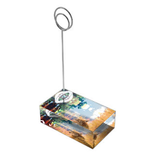 Fishing Landscapes North American Park Outdoor Place Card Holder