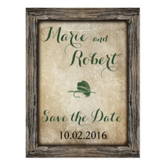 Fishing Lure Wedding Save the Date Postcard