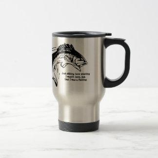 Fishing Mug. Stainless Steel Travel Mug