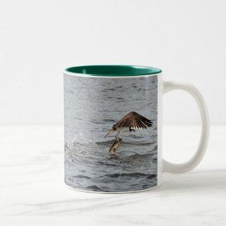 Fishing Osprey & Walleye Wildlife Photo Mug