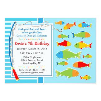 Fishing Theme Birthday Party Invitation