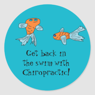 fishy chiropractor stickers
