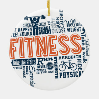 Fitness, exercise, health christmas ornament