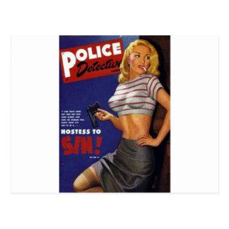 Fitness Model smoking Postcard