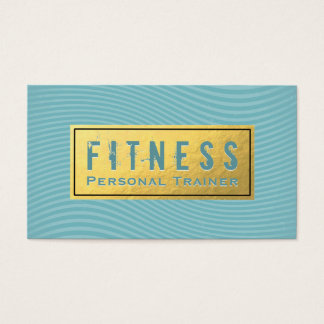 Fitness Personal Trainer Turquoise and Gold Foil