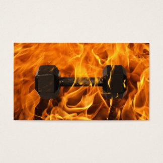Fitness Trainer Burning Dumbbell Fire Gym