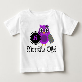 Five Months old adorable Owl Baby T-Shirt