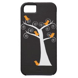 Five Orange Birds in a Tree iphone 5 case
