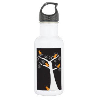 Five Orange Birds in a Tree Liberty Bottle