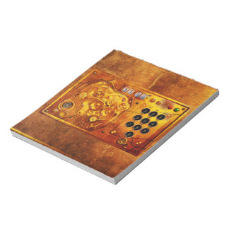Five ton of OF 12 Steampunk clock Grunge Notepad