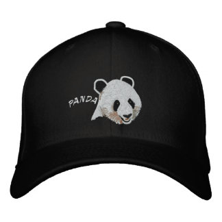 Fixed Panda Embroidered Hat