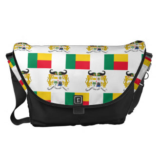 Flag and Crest of Benin Courier Bags