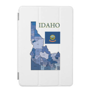 Flag and Map of Idaho iPad Mini Cover