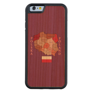 Flag and Map of Poland Cherry iPhone 6 Bumper Case