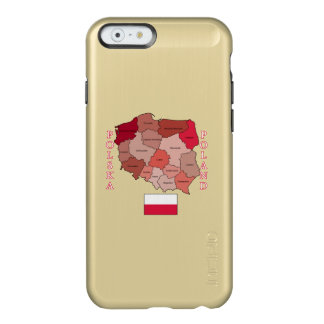 Flag and Map of Poland Incipio Feather® Shine iPhone 6 Case