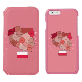 Flag and Map of Poland Incipio Watson™ iPhone 6 Wallet Case