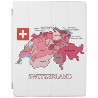 Flag and Map of Switzerland iPad Cover