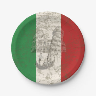 Flag and Symbols of Italy ID157 Paper Plate