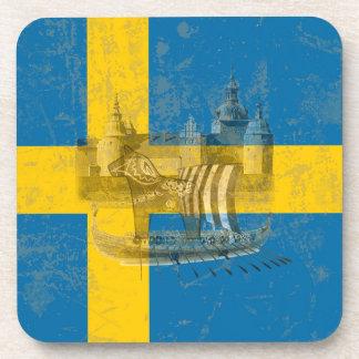 Flag and Symbols of Sweden ID159 Coaster