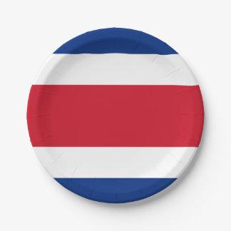 Flag: Costa Rica Paper Plate
