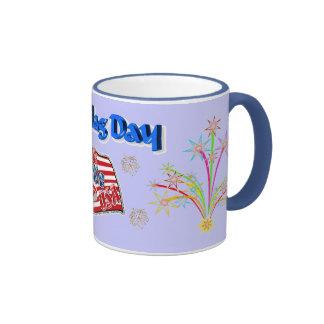 Flag day ringer mug