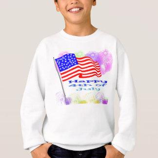 Flag Fireworks 4th of July Sweatshirt