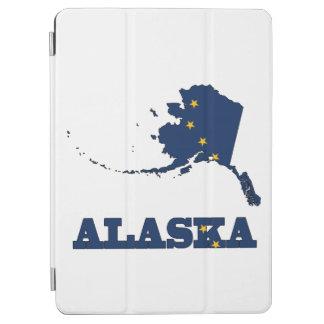 Flag in Map of Alaska iPad Air Cover