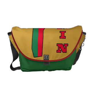 Flag in Map of Benin Courier Bags