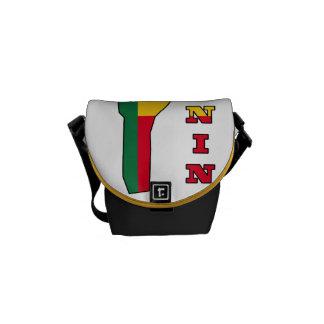 Flag in Map of Benin Messenger Bag
