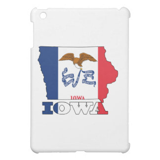 Flag in Map of Iowa Cover For The iPad Mini