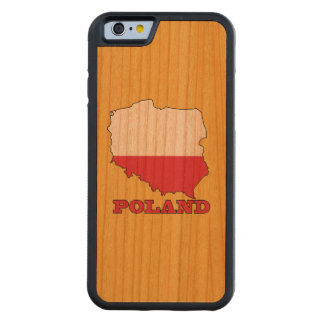 Flag in Map of Poland Carved Cherry iPhone 6 Bumper Case