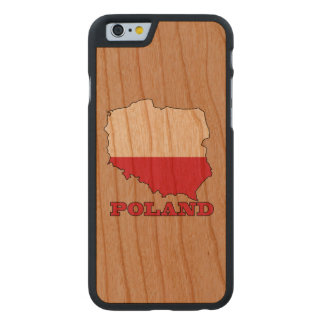 Flag in Map of Poland Carved® Cherry iPhone 6 Case