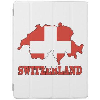 Flag in Map Switzerland iPad Cover