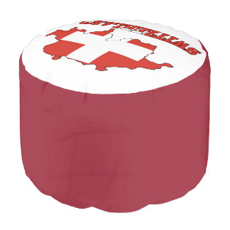 Flag in Map Switzerland Pouf