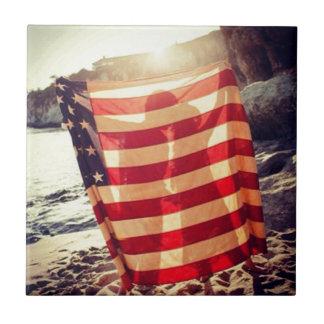 Flag Love Ceramic Tiles