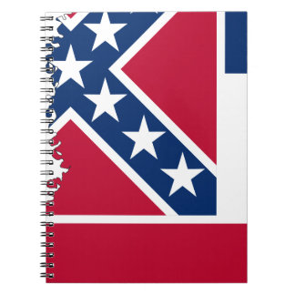 Flag Map Of Mississippi Notebook