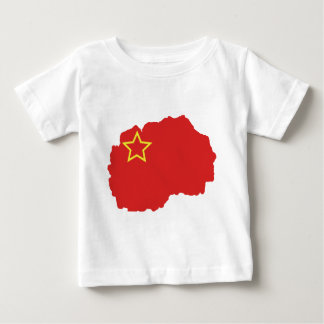 Flag map of SR Macedonia Baby T-Shirt