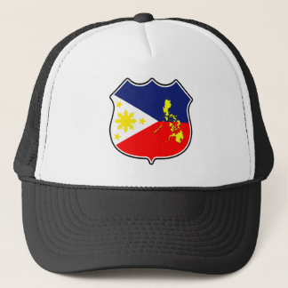 Flag & map trucker hat