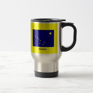 Flag of Alaska 15 Oz Stainless Steel Travel Mug