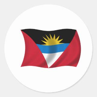 Flag of Antigua and Barbuda Classic Round Sticker