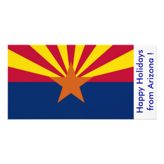 Flag of Arizona, Happy Holidays from U.S.A. Photo Cards