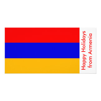 Flag of Armenia, Happy Holidays from Armenia Picture Card