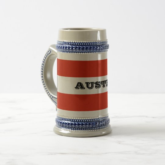 Flag of Austria Beer Stein