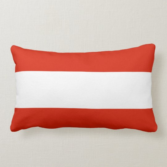 Flag of Austria Lumbar Pillow