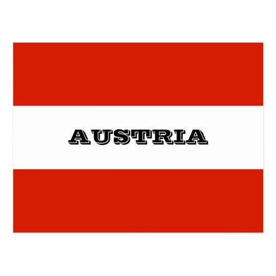 Flag of Austria Postcard